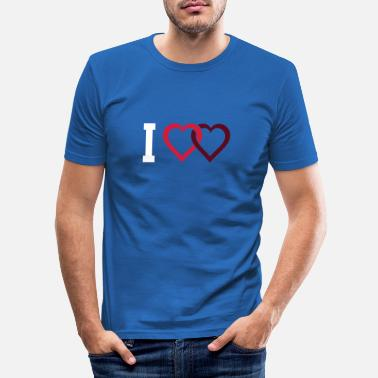 I Love I love - Männer Slim Fit T-Shirt