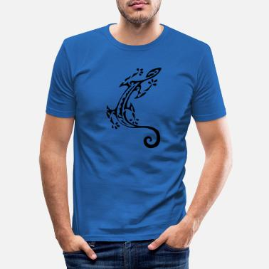Black maori lizard 7 black - Men's Slim Fit T-Shirt