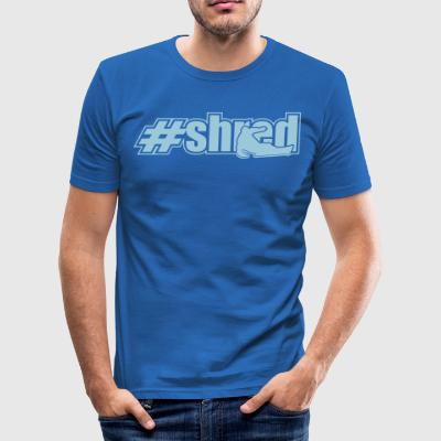 trevl kontur - Herre Slim Fit T-Shirt