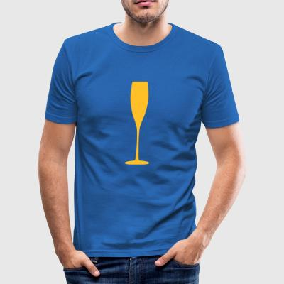 2541614 11637364 sektglas - Männer Slim Fit T-Shirt