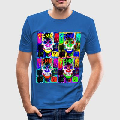 pop art capitan - Men's Slim Fit T-Shirt