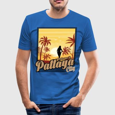 Welcome to Pattaya City - Men's Slim Fit T-Shirt
