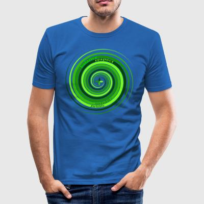 # 5 Spiral (terre) - Tee shirt près du corps Homme