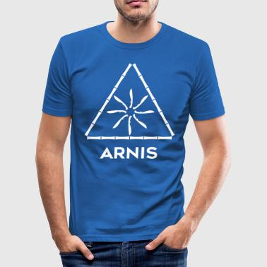 FMA-LOGO-03-ARNIS - Men's Slim Fit T-Shirt