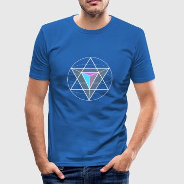 triangular circular geometry math nerd hipster Game gee - Men's Slim Fit T-Shirt