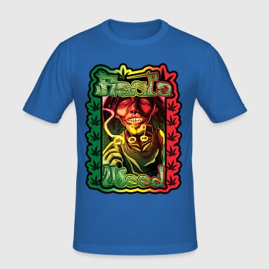 rasta weed - Men's Slim Fit T-Shirt