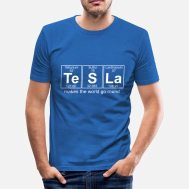 Nikola Tesla Te-S-La (tesla) - Full - Men's Slim Fit T-Shirt