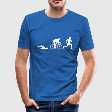 52371401 Triathlon silhouettes Stock Vector triath - Männer Slim Fit T-Shirt