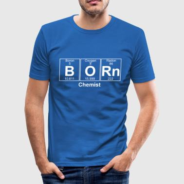 B-O-Rn (born) - Full - Herre Slim Fit T-Shirt