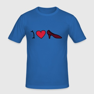 I love shoes - Men's Slim Fit T-Shirt