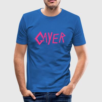 Gayer Slayer - Herre Slim Fit T-Shirt