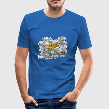 Cyprus vintage flag - Men's Slim Fit T-Shirt