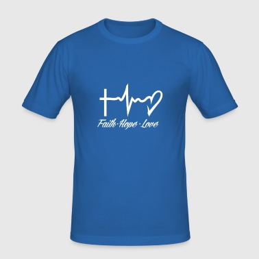 Faithful hope love - Men's Slim Fit T-Shirt