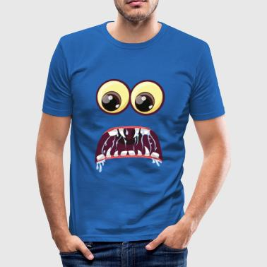 Scared Monster Eyes - slim fit T-shirt