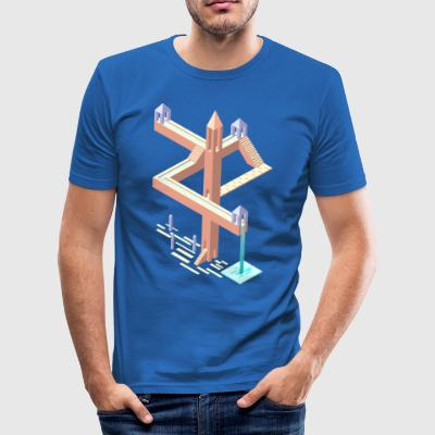 Monument Valley hyldest - Herre Slim Fit T-Shirt