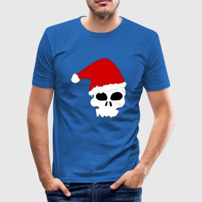 Santa Skull - Men's Slim Fit T-Shirt