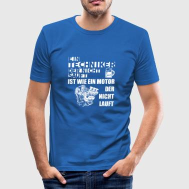 Techniker Motor - Männer Slim Fit T-Shirt