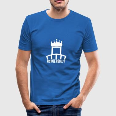 Private Royalty White Logo - Men's Slim Fit T-Shirt