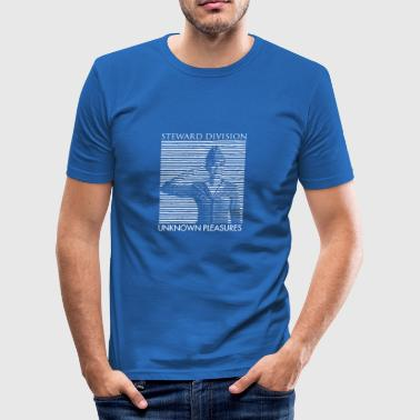 Stewardess Division and Unknown Pleasure T-shirt - Men's Slim Fit T-Shirt
