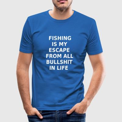 Fishing Fishing Angler Statement T-Shirt - Men's Slim Fit T-Shirt