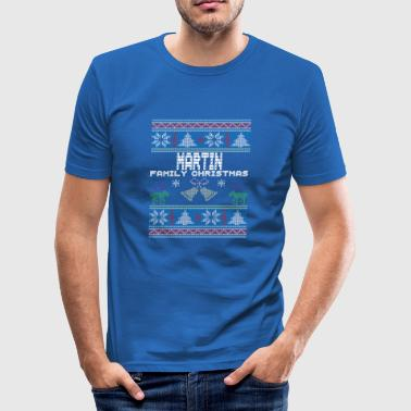 Ugly Martin Christmas Family Vacation Tshirt - Herre Slim Fit T-Shirt