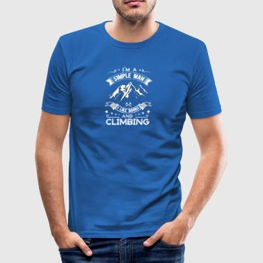 Tits and rock climbing / climbing - Men's Slim Fit T-Shirt