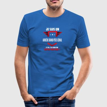 arriere grand pere genial - Tee shirt près du corps Homme
