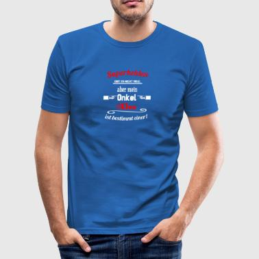 Superhelden Onkel Alex - Männer Slim Fit T-Shirt