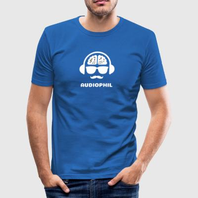 Audiophil MUSIK SHIRT - Männer Slim Fit T-Shirt