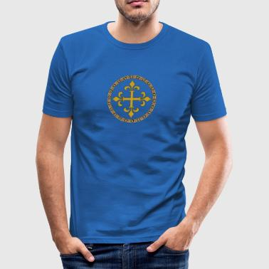 Celtic Goldkreuz - Männer Slim Fit T-Shirt