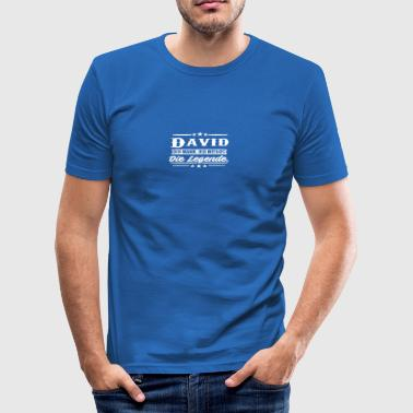 David die Legende - Männer Slim Fit T-Shirt