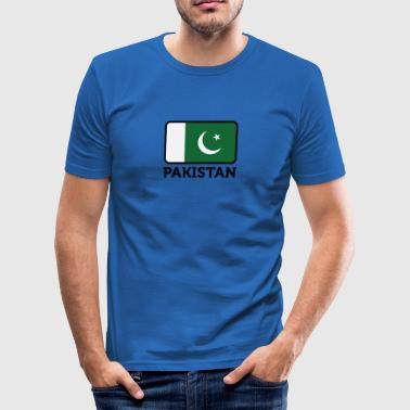 Pakistans nationale flag - Herre Slim Fit T-Shirt