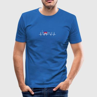 i love home homeland Cambodia - Men's Slim Fit T-Shirt