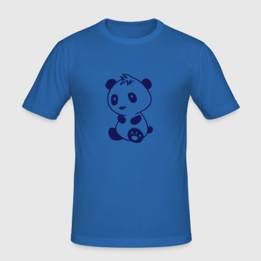 Kawaii Panda - Pandabär - Herre Slim Fit T-Shirt