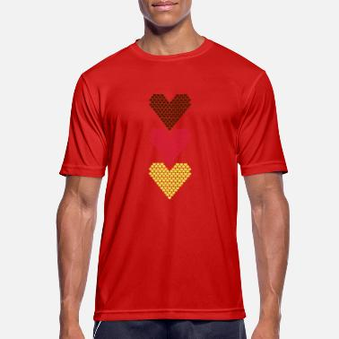 Heart Love Love Love Love Heart Heart Heart - Men's Breathable T-Shirt