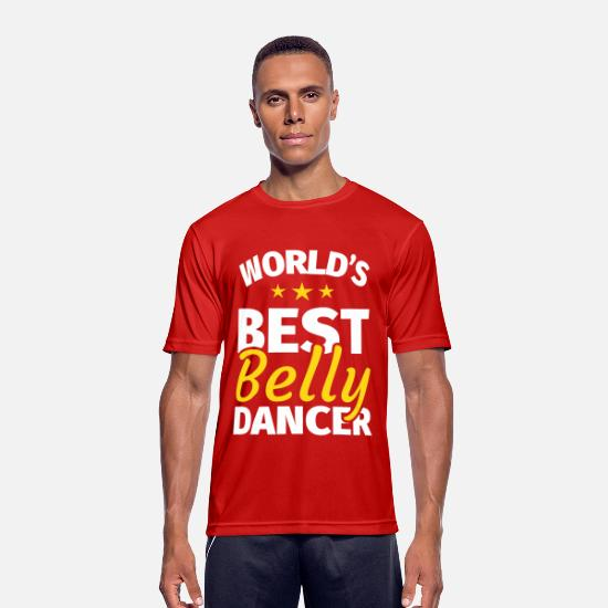 Belly T-Shirts - Belly dance Belly dancer Oriental dance - Men's Sport T-Shirt red