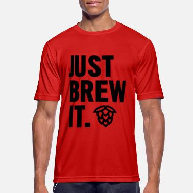 It Bara Brew It - Andningsaktiv T-shirt herr