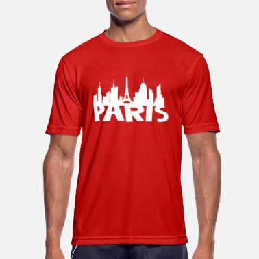 Paris Comic Paris Skyline - Männer T-Shirt atmungsaktiv