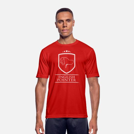 Pointer T-Shirts - ENGLISH POINTER COAT OF ARMS - Men's Sport T-Shirt red
