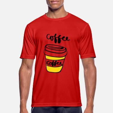 Coffee To Go Becher Coffee To Go - Männer T-Shirt atmungsaktiv