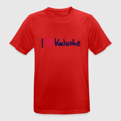 I love Karlsruhe - Men's Breathable T-Shirt