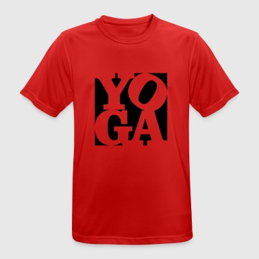 yoga Homage to Robert Indiana black outside - Men's Breathable T-Shirt