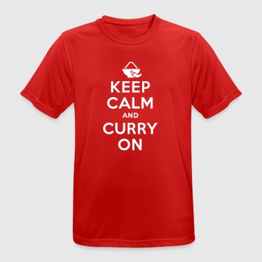 Keep calm and curry on - Men's Breathable T-Shirt