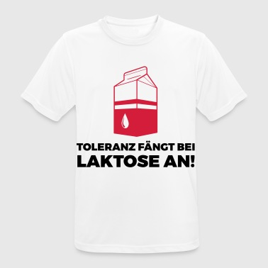 Tolerance begins with lactose! - Men's Breathable T-Shirt