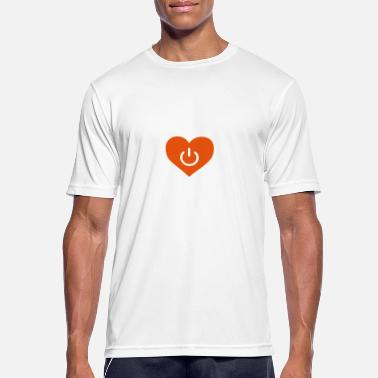 Beziehung power of love v1 - Männer Sport T-Shirt