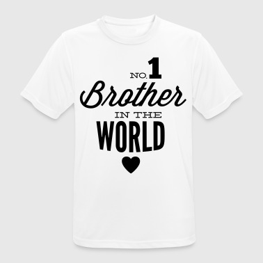 no1 brother of the world - Herre T-shirt svedtransporterende