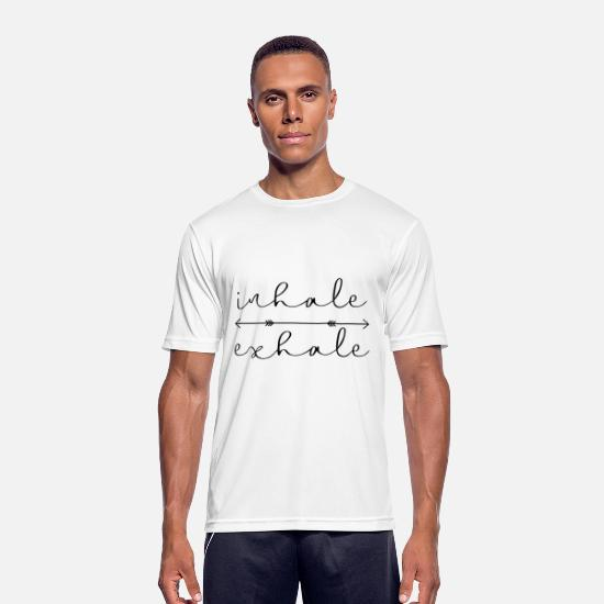 Gift Idea T-Shirts - inhale exhale yoga meditation gift idea - Men's Sport T-Shirt white