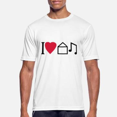 House Music I Love House Music - Männer Sport T-Shirt