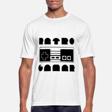 Retro Game Figuren RETRO GAMER (v) - Männer Sport T-Shirt