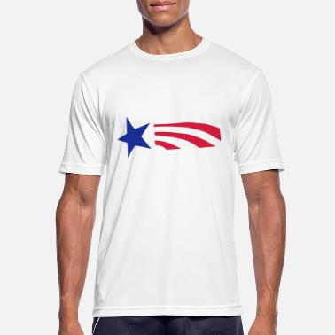 Stars Star and Stripes - Sport T-skjorte for menn